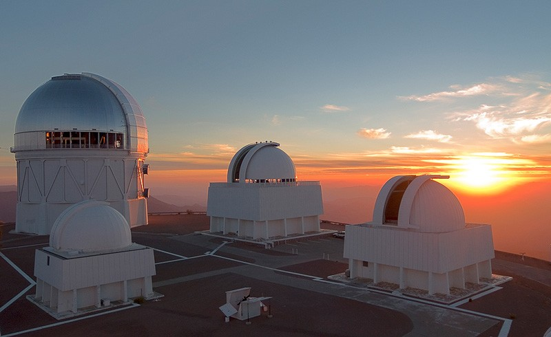 The sun sets at Cerro Tololo Inter-American Observatory in Chile, one of three observation sites now available to Delaware astronomers.