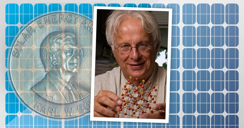The University of Delaware will award Alex Zunger, professor at the University of Colorado, Boulder, the 2018 Karl W. Böer Solar Energy Medal of Merit in a ceremony this fall.