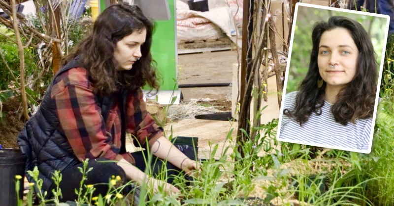 Olivia Kirkpatrick helped design UD's display at the 2018 Philadelphia Flower Show and was recently honored by the American Society for Horticultural Science.