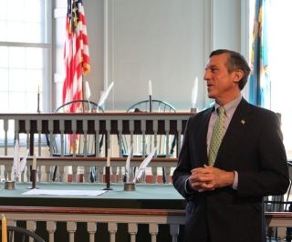 Gov. John Carney at the bill signing at the Old State House in Dover.