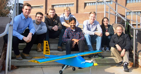Engineering students worked together to build functional aircraft