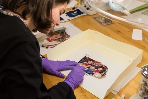 Students treat photos rescued from an Ohio fire