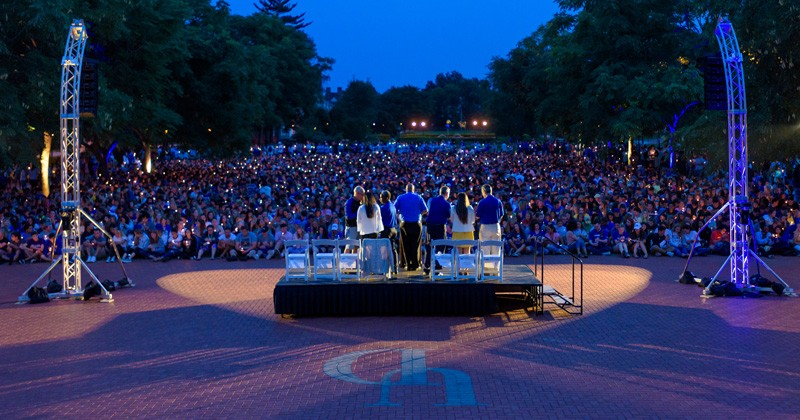 The Twilight Induction Ceremony is a cherished tradition that many students reference years later as a formative moment in their UD experience.