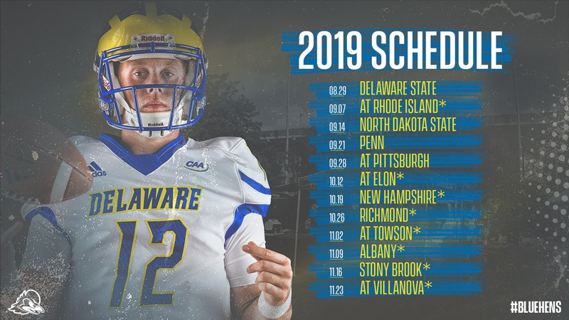 photograph regarding Penn State Football Schedule Printable named Blue Hens 2019 soccer timetable UDaily