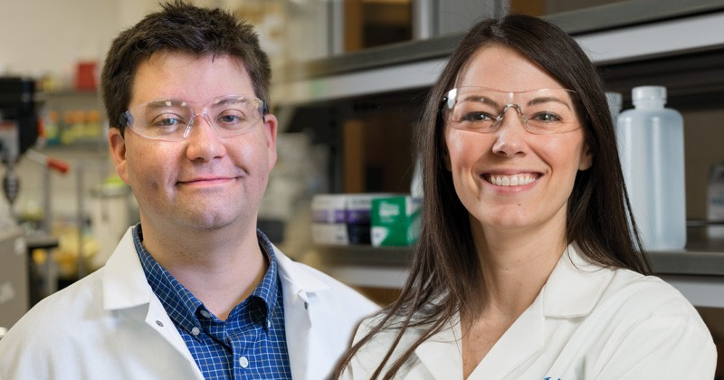 Jason Gleghorn (left) and Emily Day are assistant professors of biomedical engineering.