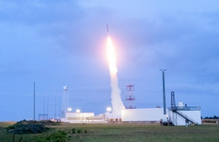 The rocket carry the UD engineering team's project launched from NASA's Wallops Flight Facility.