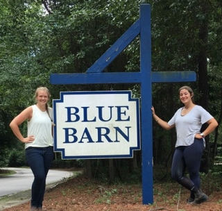 Jenna Deal (left) and Catherine Galbraith (right) spent 10 weeks in Camden, South Carolina learning about the world of thoroughbred racehorses.
