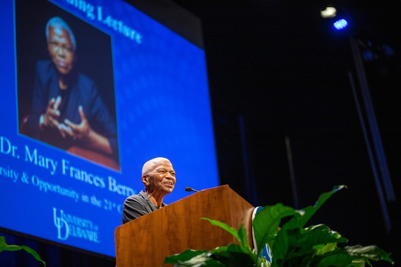 Mary Frances Berry shares her insights on race and education during the annual Louis L. Redding Lecture.
