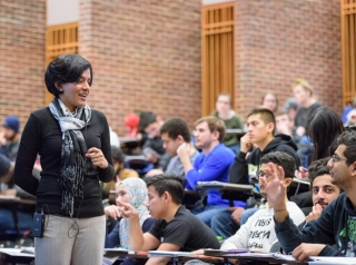 Arthi Jayaraman, a UD associate professor, recognizes that each group of students presents a new teaching challenge and she tries to adapt her lesson to meet their needs.