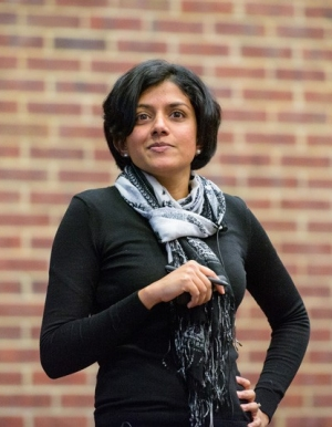 Arthi Jayaraman serves as the graduate program director for the Department of Chemical and Biomolecular Engineering, which means she tries to help students navigate through the graduate process.