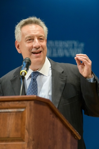 UD President Dennis Assanis speaks at the launch ceremony for the University's Data Science Institute.