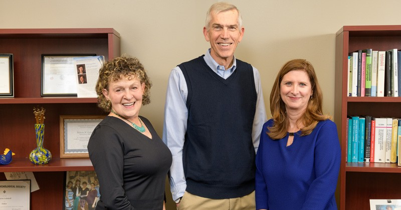 Three University of Delaware School of Education professors are 2019 AERA Fellows. From left to right: Roberta Michnick Golinkoff, James Hiebert and Laura Desimone