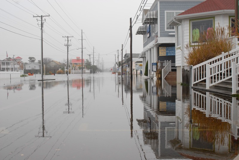 Coastal communities in Delaware are particular vulnerable to the impacts of sea level rise and climate change as seen here in a photo taken after a Nor'easter in 2009.