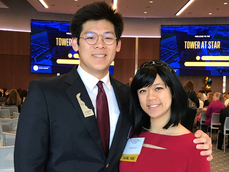 Jonathan and Chelsea Lee are siblings who credit HOSA with inspiring their future healthcare career plans. Jonathan, a senior at Sussex Tech High School, serves as vice president of Delaware HOSA. Chelsea is a senior at the University of Delaware majoring in applied molecular biology and biotechnology. She will be attending graduate school at Johns Hopkins University.