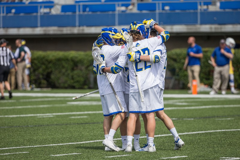 The Blue Hens men's lacrosse team is 10-2 overall this season, marking the program's best start since 1999.