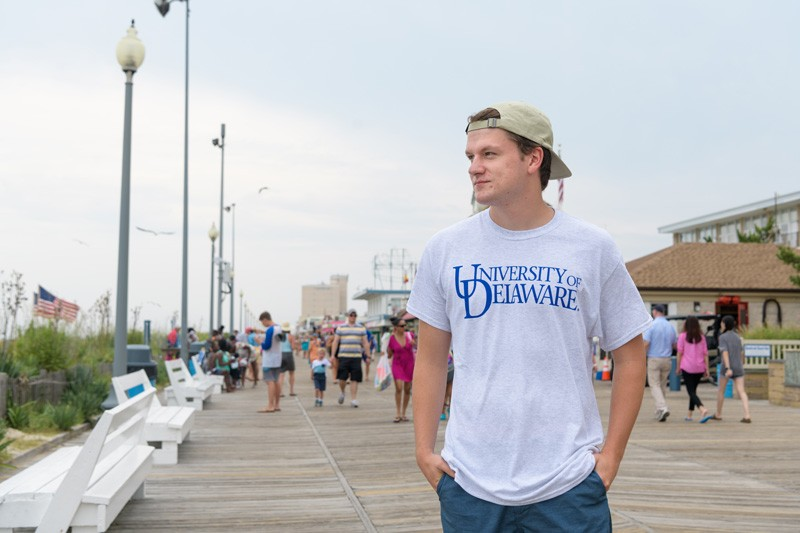 During the summer Connor Dorney worked two jobs. His second job was at a pizza shop on the boardwalk in Rehoboth.