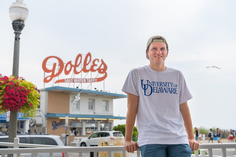 During the summer Connor Dorney worked two jobs. One job was at a seafood restaurant in Rehoboth