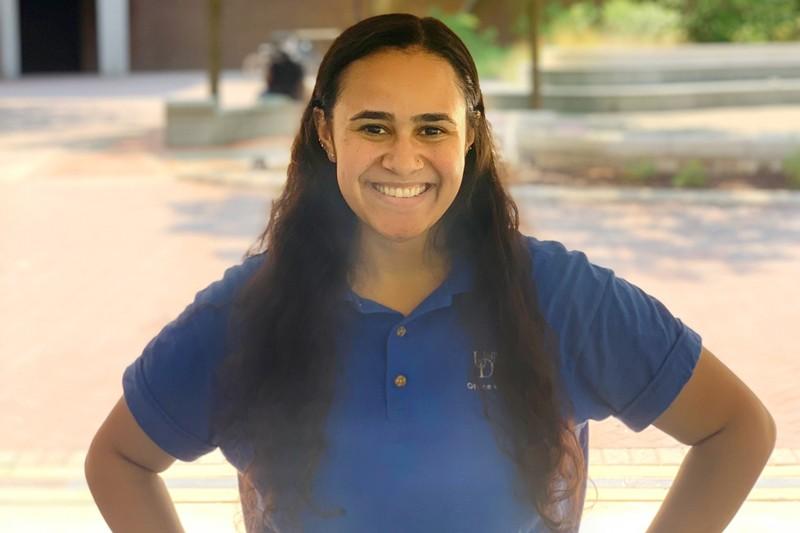 Carissa Barksdale, a junior, is majoring in health behavior science.