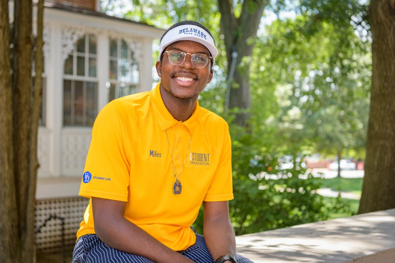 Miles Evans, a sophomore, is majoring in political science.