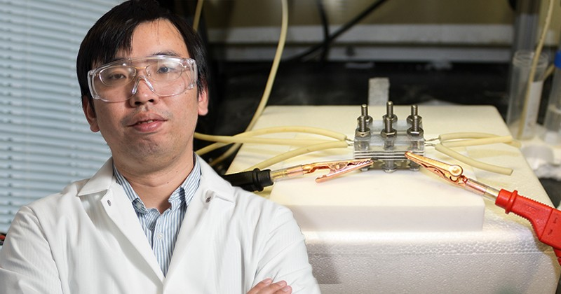 Feng Jiao, an associate professor of chemical and biomolecular engineering at the University of Delaware, is a leader in the field of carbon capture and utilization.