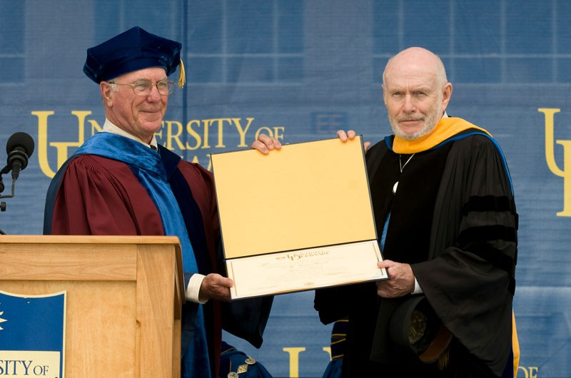 T.W. Fraser Russell received honorary degree at UD