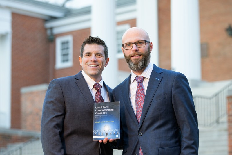 UD alumni Joseph Jones and T.J. Vari are administrators in the New Castle County Vocational Technical School District and Appoquinimink School District, respectively. Their new book, Candid and Compassionate Feedback, is available through Routledge