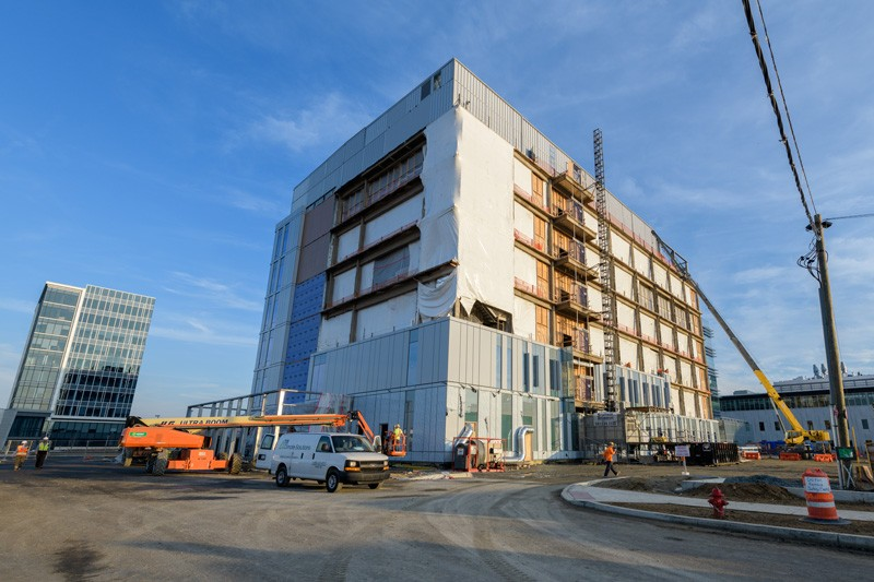 Construction began in October 2017 on the biopharmaceutical center.