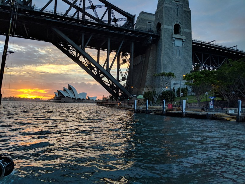 A view of the Sydney Harbour and Opera House taken by Brendan Hopkins during the Winter 2018 finance and business administration study abroad program, where students split their time between Thailand and Australia.