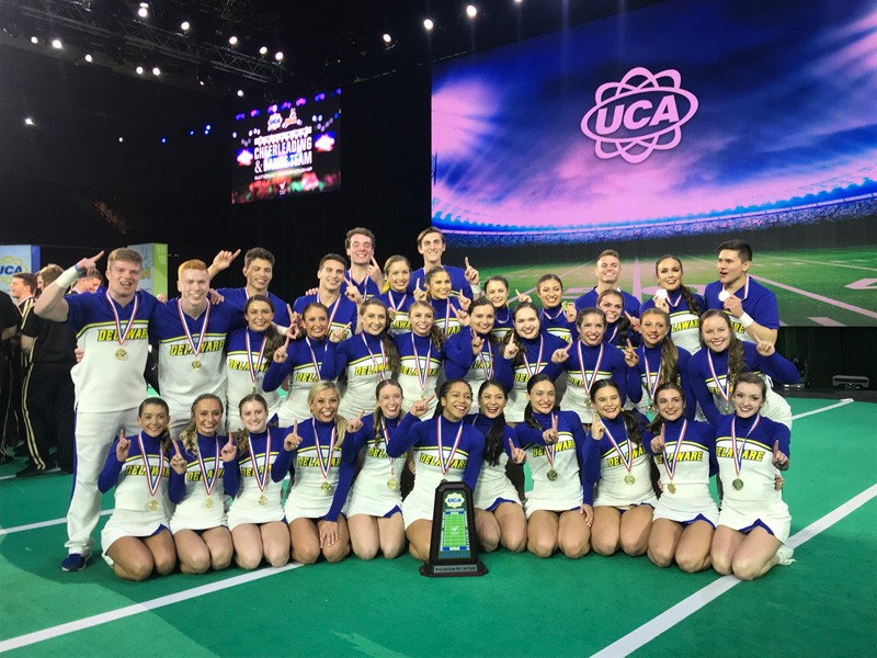 The University of Delaware won three national titles Jan. 18-20 at the cheerleading and dance collegiate national championships in Orlando.
