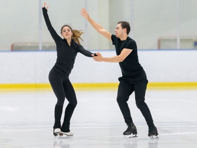 Alannah Binotto and her ice dance partner Shiloh Judd practiced between 25 to 30 hours each week during the fall semester.