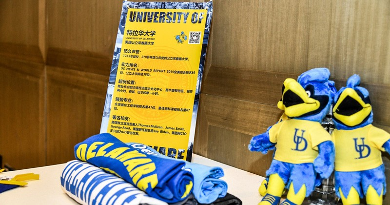 Students received UD souvenirs to foster their burgeoning sense of Blue Hen pride.