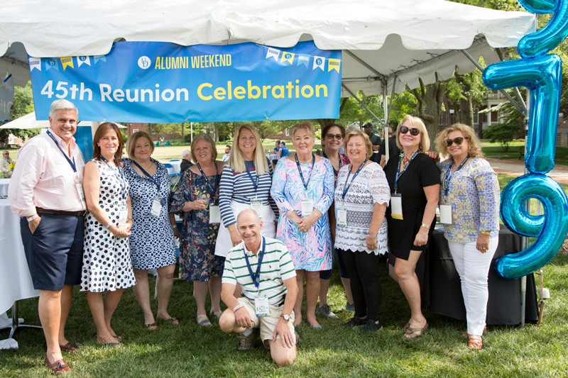 UD friendships can last a lifetime, as shown by the Class of 1974, which celebrated its 45th reunion.