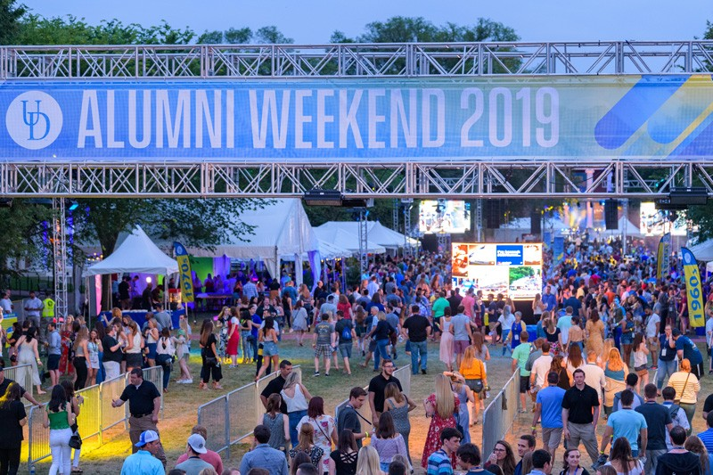 Thousands of alumni, friends and families of all ages flocked to campus for the University of Delaware's 11th annual Alumni Weekend.