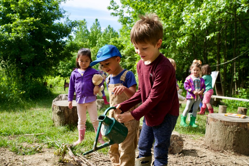 Students at UD's Children's Campus now have an opportunity to tend the edible forest garden, watch their food grow, and learn about the importance of sustainable food systems.