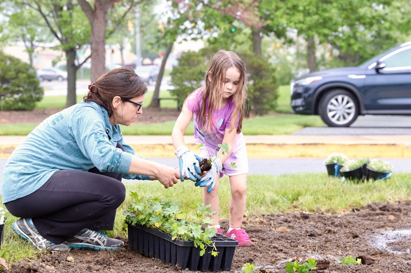 """One of the biggest things we hope to foster here is a connection to nature, so kids can learn that plants and people can work together to increase ecosystem viability,"" said Anna Wik, assistant professor of landscape architecture."