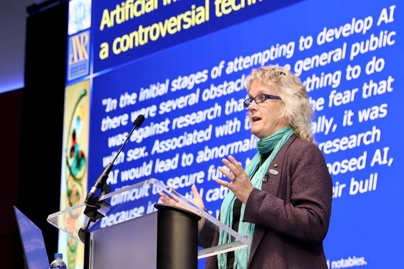 Alison Van Eenennaam, Cooperative Extension Specialist in the field of Animal Genomics and Biotechnology in the Department of Animal Science at University of California Davis, gave the keynote speech at UD's One Health Seminar Series.