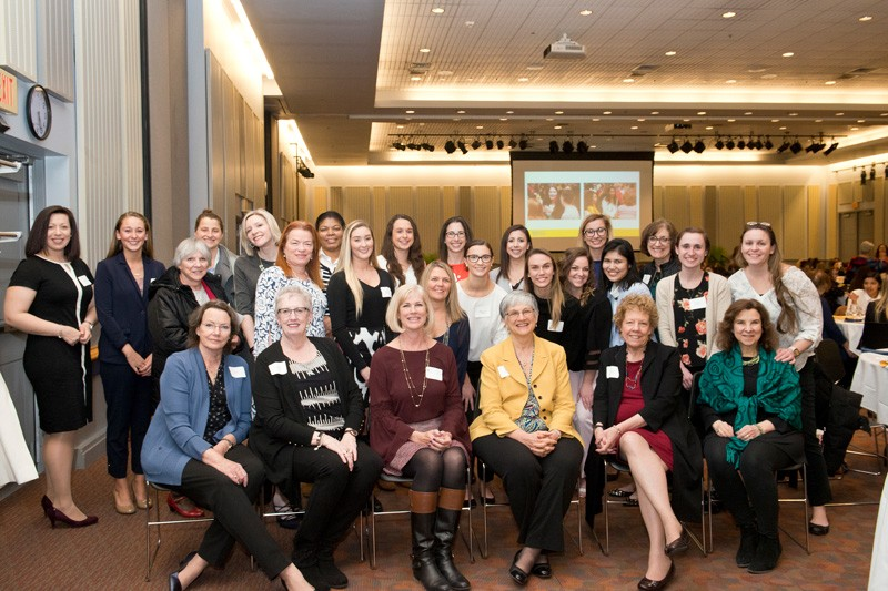 The 2019 Women of Promise dinner, held in the Trabant University Center, celebrated the achievements of UD women and the power of mentorship.