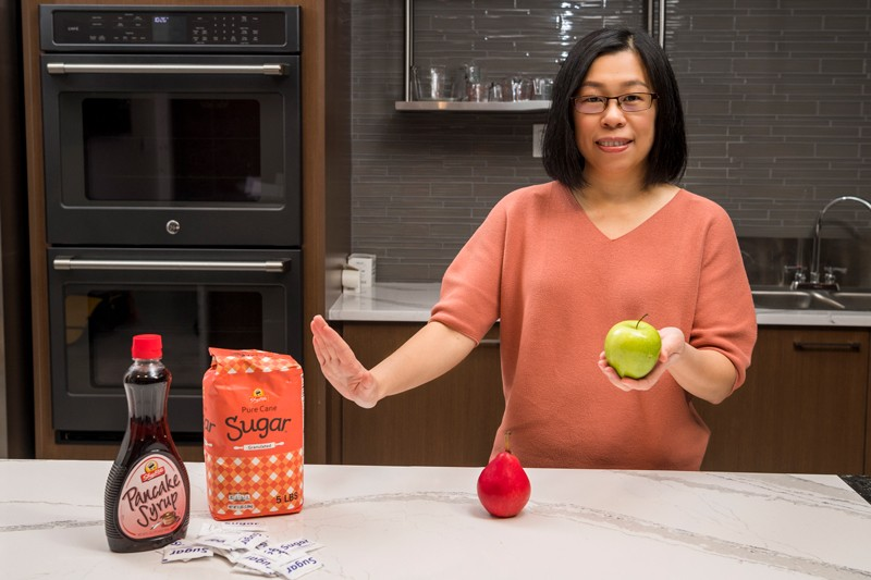 University of Delaware researcher Sheau Ching Chai is exploring how sugar in the diet affects blood pressure. Preliminary data suggest that your choice — sugary food versus whole fruit — can make a real difference.