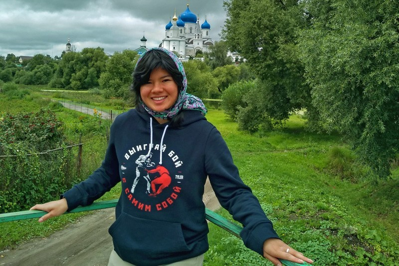 During her Critical Language Scholarship, UD student Rebecca King toured one of Russia's cathedrals.