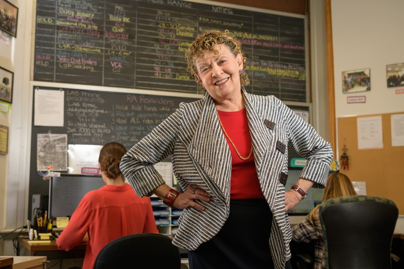 Roberta Michnick Golinkoff, Unidel H. Rodney Sharp Professor in the School of Education at the University of Delaware leads a team of graduate and undergraduate researchers in the Child's Play, Learning and Development Laboratory at UD.