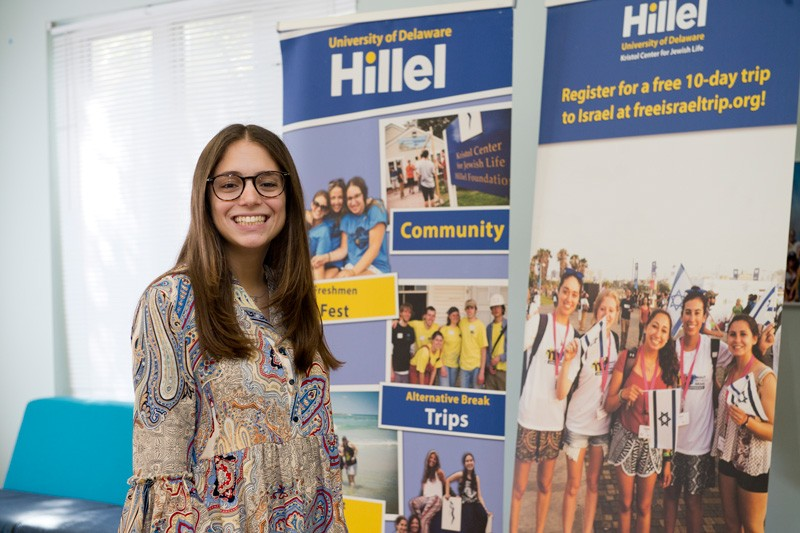UD student Talia Feldman is a member of the UD chapter of Hillel, the largest Jewish campus organization in the world.