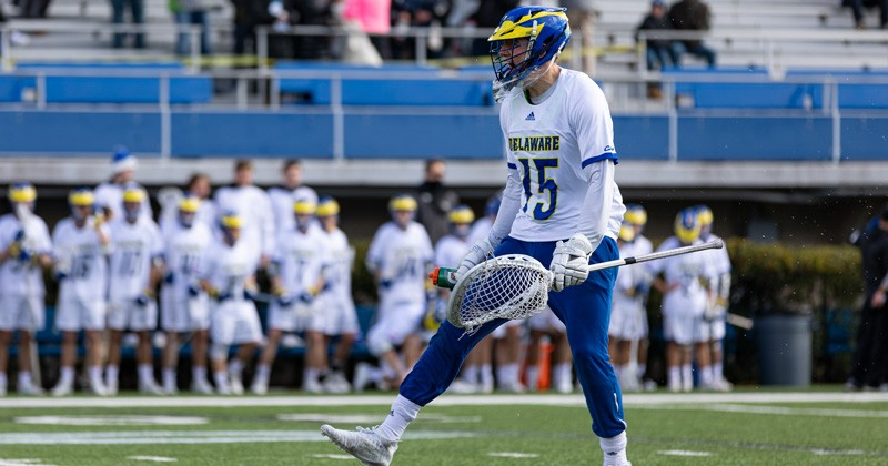Because of the coronavirus pandemic, intercollegiate games are no longer being played. But in the six games before the stoppage, UD senior goaltender Matt DeLuca ranked seventh in the country in goals against average at 8.78 per contest.