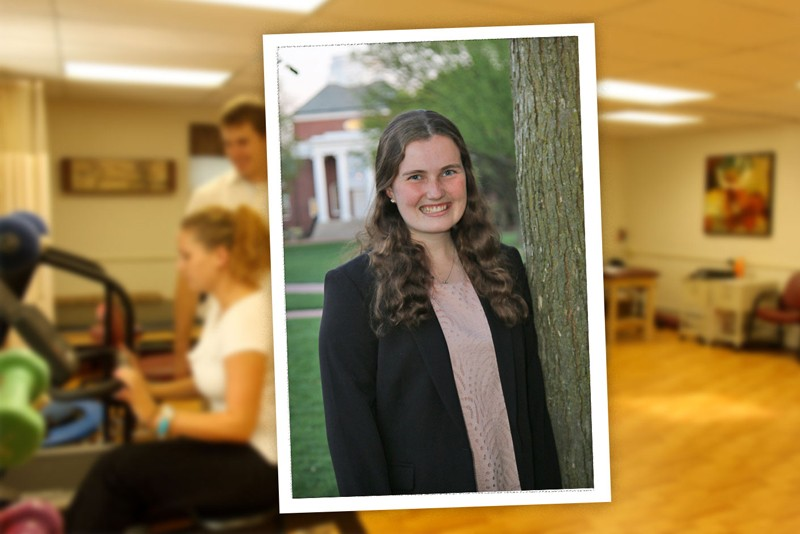 University of Delaware senior Chelsea Chatterton of Vernon, Connecticut, is majoring in exercise science, with a minor in public health. She is studying free community physical therapy clinics to learn about the population served and see if they are affected by gaps in health insurance and health inequities.