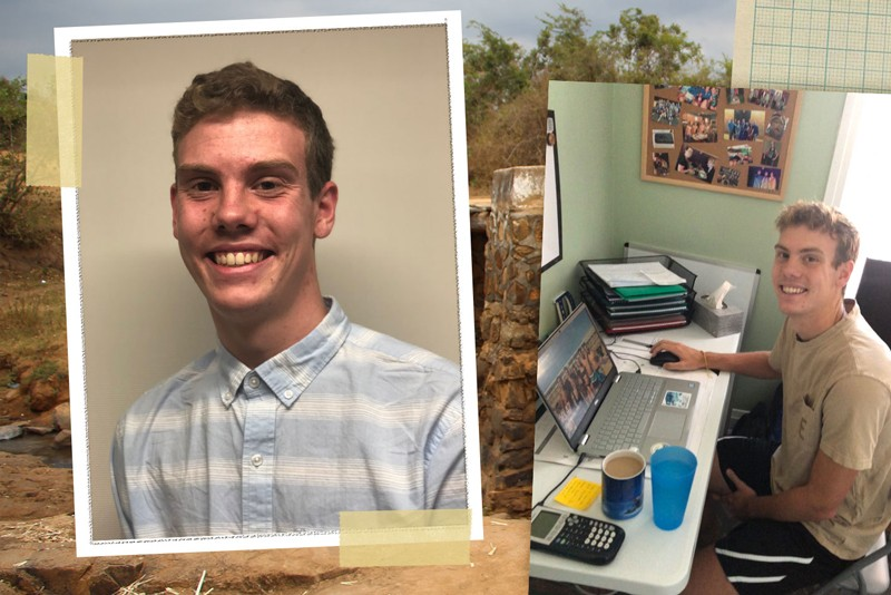 Drew Huffer, a junior from Williamsport, Maryland, is majoring in civil engineering and working as a project manager for the University of Delaware's chapter of Engineers Without Borders.