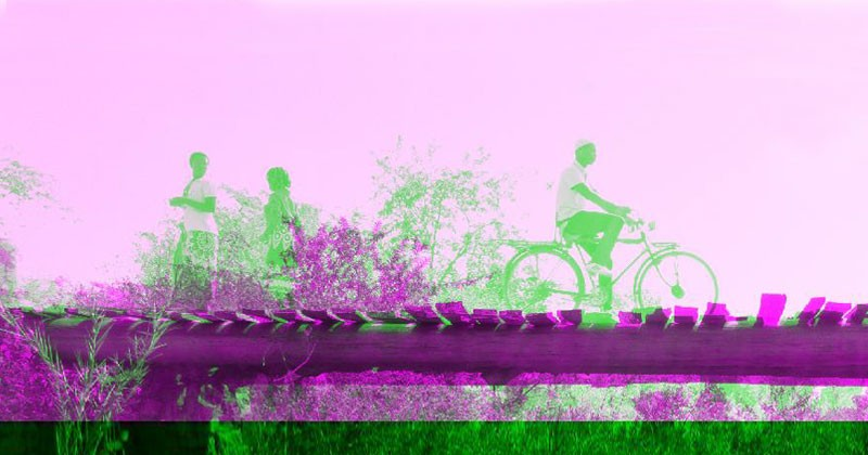 This image of a community bridge in Malawi, Africa, was created by University of Delaware junior Drew Huffer using MATLAB computer software. He is using digital images of the bridge, loaded with people and bicycles, to analyze the integrity of the bridge, assess its capacity and inform future repair options. Huffer, a civil engineering major, is a project manager for UD's chapter of Engineers Without Borders and one of more than 450 students participating in research projects this summer.