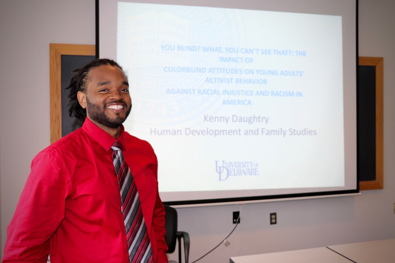 "When people say they ""don't see skin color,"" then they won't see discrimination based on skin color, doctoral student Kendell Daughtry said at the HDFS Race and Culture lecture series."