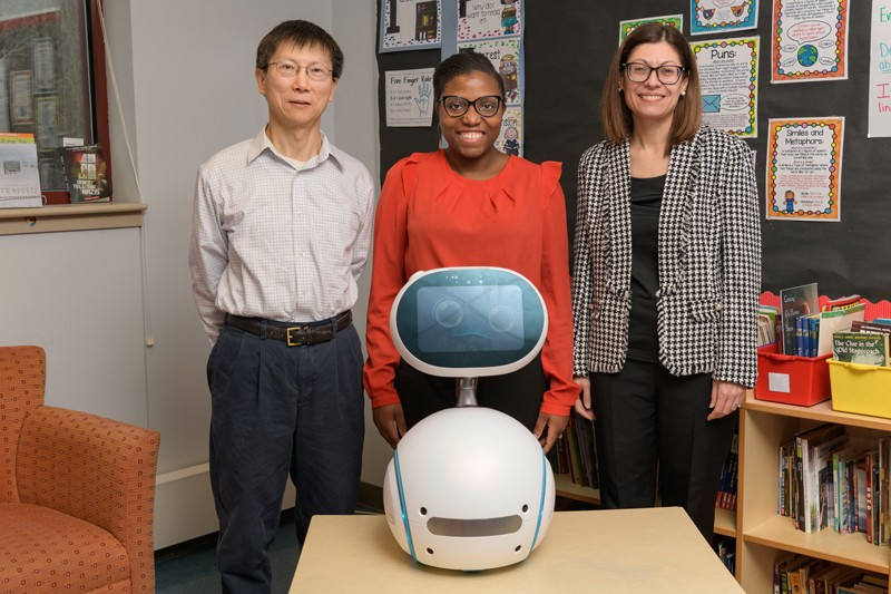 3 UD professors doing research on using robots to teach cyber safety to children