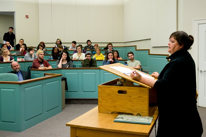 "Prof. Devon Miller-Duggan teaches Introduction to Poetry and Introduction to Poetry Writing at the University of Delaware. ""The poems of Robert Burns are profoundly musical,"" she said. ""And they're lovely."""