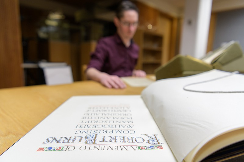 When we compare original manuscripts written by Robert Burns in the 18th century — documents that are housed in Morris Library — with the published versions, we can see what things may have been censored by publishers, said librarian Alex Johsnton.