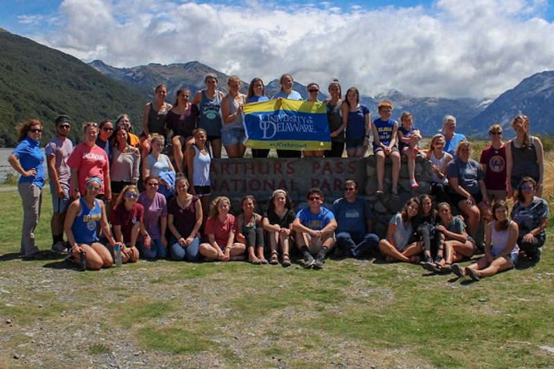 lumna Victoria Dortenzio and her classmates joined Professor Lesa Griffiths for study abroad coursework in New Zealand, which focused on animal science, sustainable farm management and major issues facing agriculture.